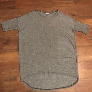 Lularoe gray Irma t-shirt - like new!